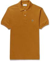 Lacoste Cotton-piqué Polo Shirt - Mustard