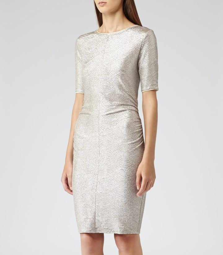 Reiss Abellia RUCHED BODYCON DRESS