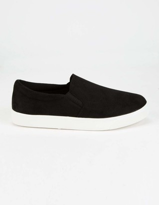 Soda Sunglasses Reign Black Womens Slip-On Shoes