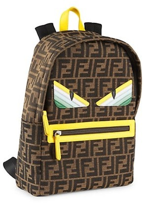 Fendi Monster Eyes Logo Backpack