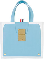 Thom Browne colour block tote - women - Calf Leather - One Size
