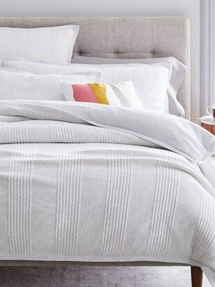 west elm Organic Cotton Cloud Jersey Bedding, Light Heather Grey