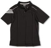 adidas Kids - Climalite 3-Stripe Polo (Big Kids) (Black/White) - Apparel