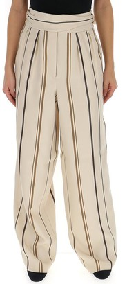 Alberta Ferretti Striped Wide Leg Pants
