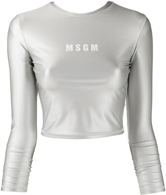 MSGM Long-Sleeved Performance Top