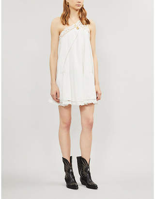 Free People Billie Battenburg one-shoulder cotton mini dress