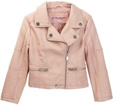 Urban Republic Faux Leather Moto Jacket with Ruffles (Little Girls)