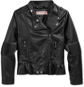 Urban Republic Faux-Leather Moto Jacket, Toddler & Little Girls (2-6X)