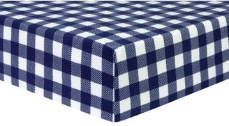 Trend Lab Navy and White Buffalo Check Deluxe Flannel Fitted Crib Sheet