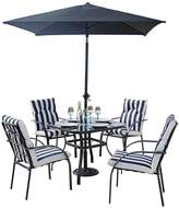 Very Portland 6-Piece Steel Set with Cushions and 2m Parasol