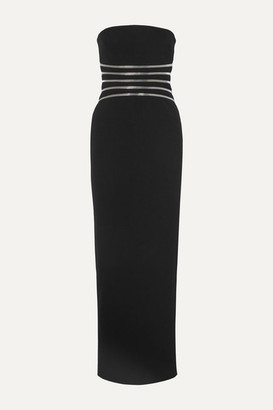 Alexander Wang Strapless Zip-detailed Cotton-blend Crepe Gown - Black