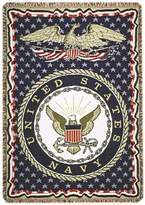 """United States Navy Military 3 Layer Afghan Throw Blanket 50"""" x 70"""""""