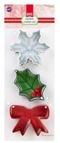 Wilton 3pc Christmas Cookie Cutter Set
