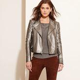 Ralph Lauren Metallic Leather Moto Jacket