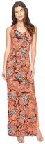 Nicole Miller Floral Nouveau Vanessa Maxi Women's Dress