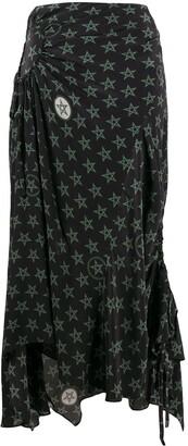 Preen Line Arya wiccan star print skirt