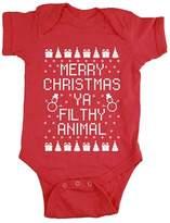 Alician Baby Boys Girls Christmas Snowman Print Rompers Short Sleeve Onesies Bodysuit
