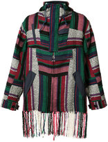 Sacai woven fringed shirt - men - Cotton/Rayon - 3