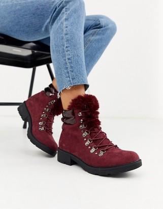 Xti heeled hiker boots