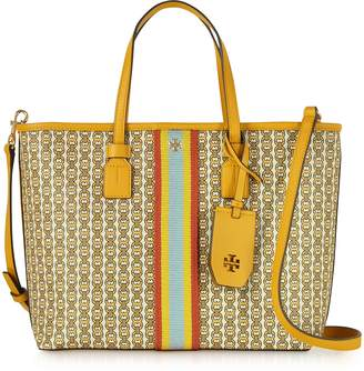 Tory Burch Gemini Link Coated Canvas Small Tote Bag