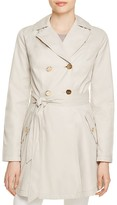 Laundry by Shelli Segal Hooded Fit-and-Flare Trench Coat