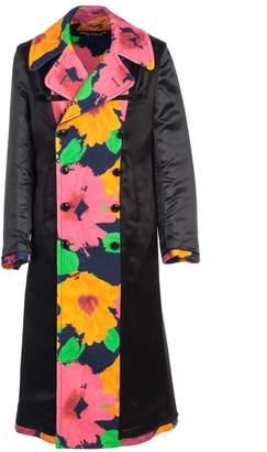 Comme des Garcons Junya Watanabe Junya Watanabe Coat High Neck Double Breasted Flower Print