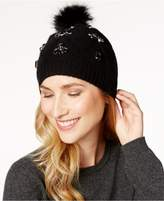 Charter Club Faux-Fur Pom Pom Beanie, Created for Macy's