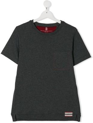 BRUNELLO CUCINELLI KIDS TEEN crew neck cotton T-shirt