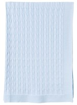 Emile et Rose Pale Blue Cable Knit Blanket