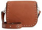 Linea Pelle Studded Faux Leather Satchel - Brown