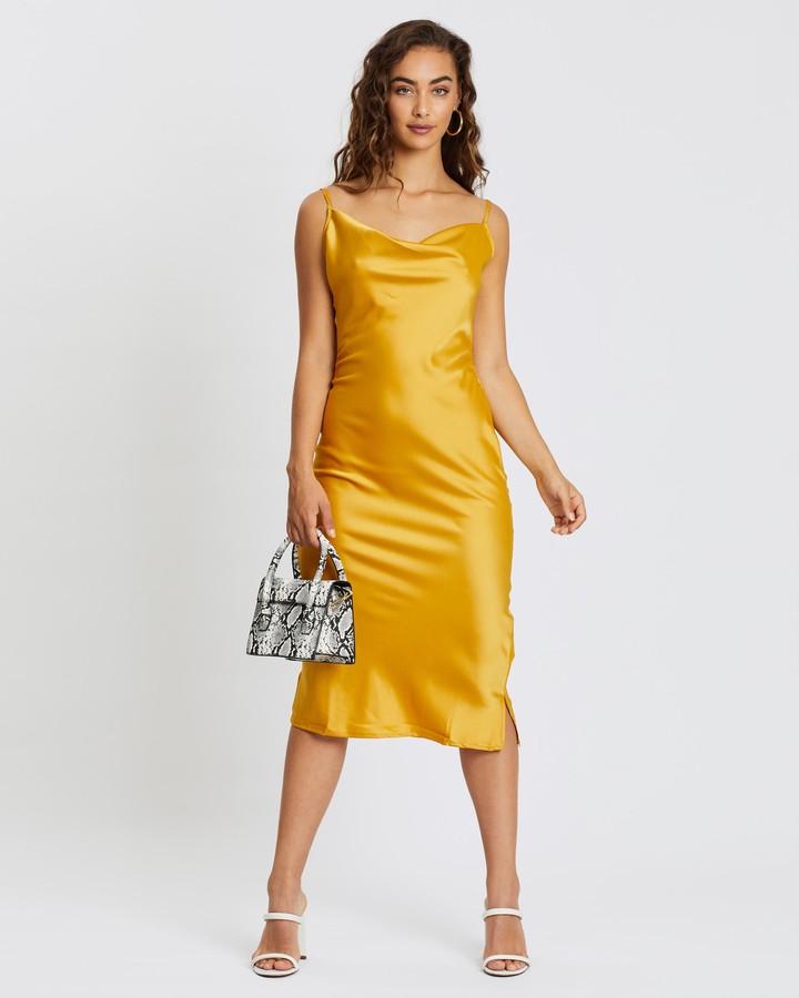 Missguided Satin Cowl Cami Midi Dress