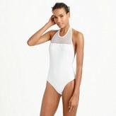J.Crew Mesh halter one-piece swimsuit