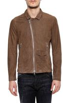 Giorgio Brato Leather Jacket With Shirt Collar