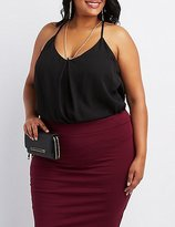Charlotte Russe Plus Size Chain-Neck Tank Top
