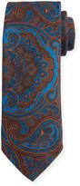 Canali Men's Vintage Paisley Wool-Silk Tie, Brown