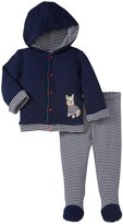 Little Me My Puppy Pant Set (Baby) - Navy Stripe-9 Months
