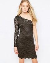 Vila Society One Shoulder Lace Dress