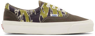 Vans Black and Green Mixed Camo OG Sk8-Hi Sneakers