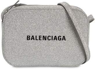 Balenciaga EVERYDAY GLITTERED LEATHER CAMERA BAG