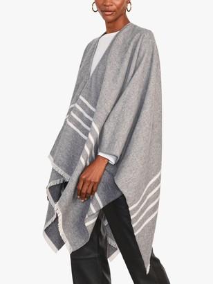 Jigsaw Stripe Wool Cotton Cape