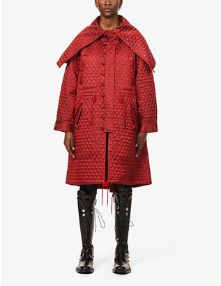 Noir Kei Ninomiya Diamond-quilted oversized satin jacket