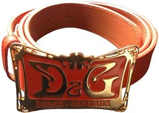 Dolce & Gabbana Orange Leather Belts