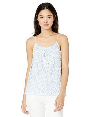 BB Dakota Women's It's a Picnic Gingham and lace Tank