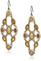 Lucky Brand Citrine and Mother of Pearl Chandelier Earrings