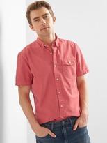 Oxford garment-dye short-sleeve standard fit shirt