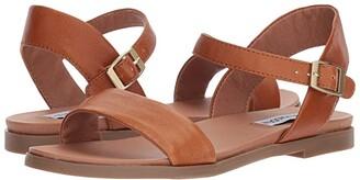 Steve Madden Dina Sandal (Tan Leather) Women's Sandals