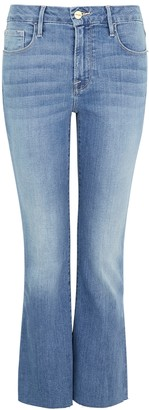 Frame Le Crop Mini Boot light blue jeans
