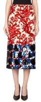 Dries Van Noten Velvet Pencil Skirt