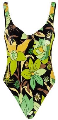 Fendi Multicolour chenille swimsuit
