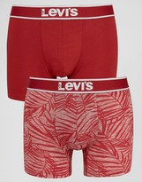 Levis Leaf Boxer Brief In 2 Pack Red
